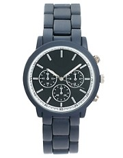 River Island Rubberised Matt Grey Watch