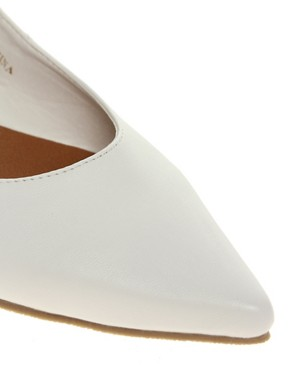 Image 2 of ASOS LANDSCAPE Point Flat Shoes with Cross Strap