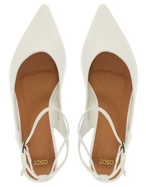 Image 3 of ASOS LANDSCAPE Point Flat Shoes with Cross Strap
