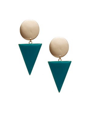 Image 1 of ASOS Spot Triangle Doorknocker Earrings