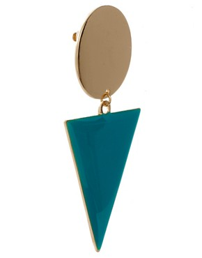 Image 3 of ASOS Spot Triangle Doorknocker Earrings