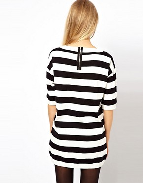 Image 2 ofASOS Striped Knit T-Shirt Dress