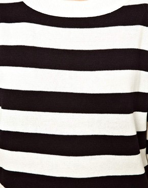 Image 3 ofASOS Striped Knit T-Shirt Dress