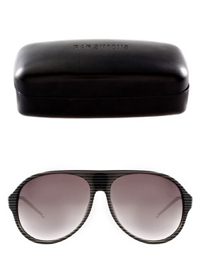 Image 2 ofRaf Simons Stripe Aviator Sunglasses