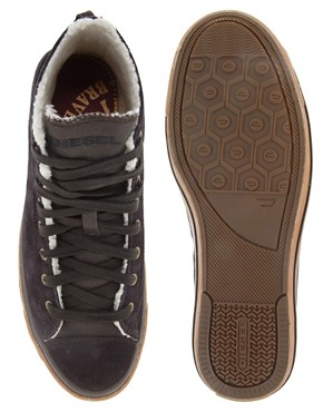 Image 3 ofDiesel Exposure Mid Suede Trainers
