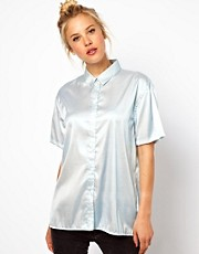 ASOS Shirt In Foil Metallic