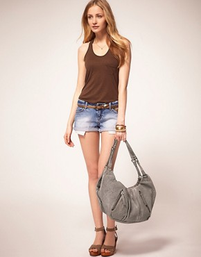 Image 3 ofurbancode Leather Slouch Bag With Triple Zip Compartments