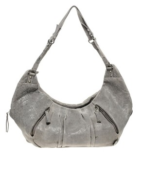 Image 1 ofurbancode Leather Slouch Bag With Triple Zip Compartments
