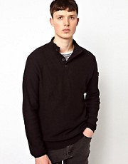 Ben Sherman Sweater Button Thru Funnel Neck