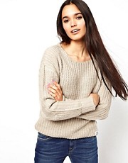 Bellfield Ribbed Jumper With Elbow Patches