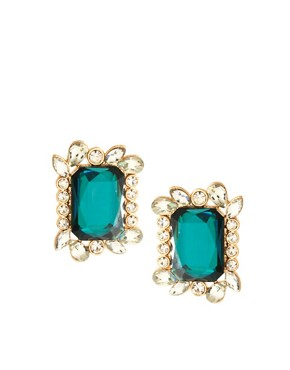 Image 1 ofASOS Jewel Frame Stud Earrings