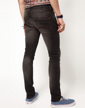 Image 2 ofASOS Skinny Jeans in Washed Black