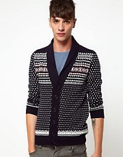 Rough Justice - Cardigan con collo sciallato