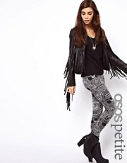 ASOS PETITE Exclusive Leggings In Habenera Skull Print