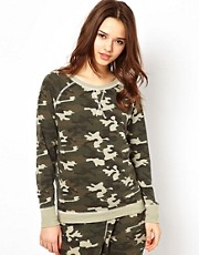 River Island Camouflage Sweat Top