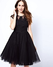 Ted Baker Feather Applique Evening Dress