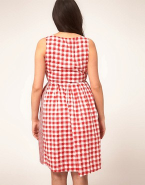 Image 2 ofASOS CURVE Exclusive Sundress In Gingham