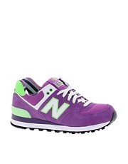 New Balance Exclusive Yacht Club Purple Trainers