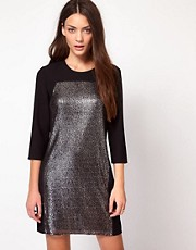 Whistles Mercy Sequin Panel Dress