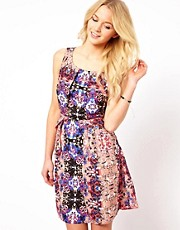 Vila Mirror Print Dress