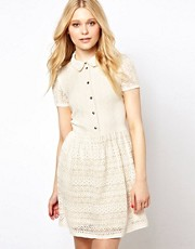 River Island Lace Placket Dress