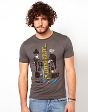 Paul Smith Jeans T-Shirt with Wing Film Festival Print