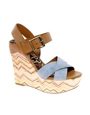 Sandalias de cua en denim Sasha de Sam Edelman