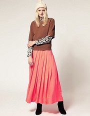 Cacharel Maxi Pleated Skirt