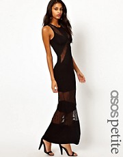 ASOS PETITE Exclusive Maxi Dress With Lace Panels