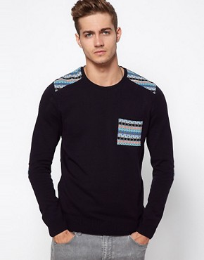 Image 1 ofASOS Fairisle Patched Jumper