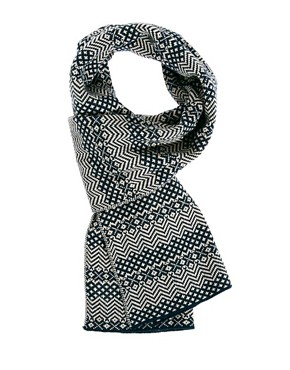 Image 1 ofASOS Scarf With Jacquard Design