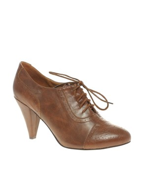 Image 2 ofASOS SHAKER Lace Up Brogue Detail Shoes