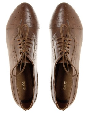 Image 1 ofASOS SHAKER Lace Up Brogue Detail Shoes