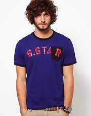 Camiseta con 1 bolsillo y logo Matador de G-Star