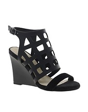 River Island Caged Wedge Slingbacks