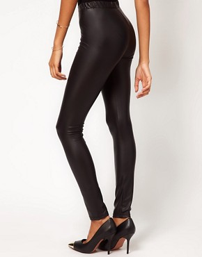 Image 2 ofRare Matte Rubber Leggings