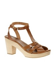 Sessun Odakotah Wooden Mid Heel Sandals