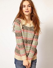 A Wear Chunky Knit Stripe Jumper