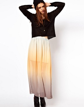 Image 1 ofJust Female Dip Dyed Maxi Skirt