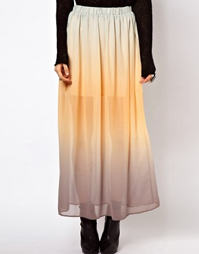 Image 4 ofJust Female Dip Dyed Maxi Skirt