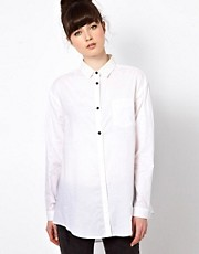 Won Hundred Spectrum Shirt with Metallic Coated Collar