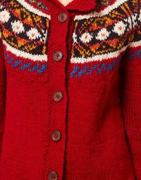 Image 3 of People Tree Wool Fairisle Cardigan