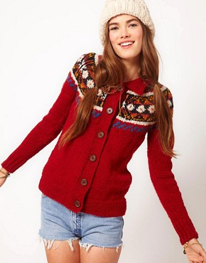 Image 1 of People Tree Wool Fairisle Cardigan