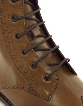 Image 2 of ASOS Brogue Boots With Leather Sole