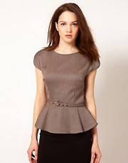 Ted Baker Peplum Detail Top