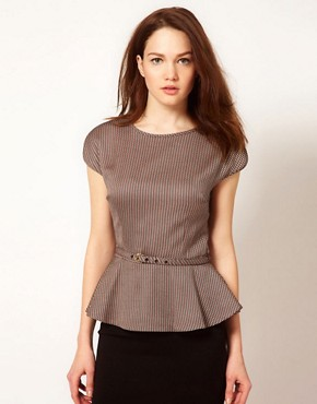 Image 1 ofTed Baker Peplum Detail Top