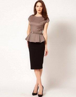 Image 4 ofTed Baker Peplum Detail Top