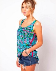 Oasis Bright Floral Silk Vest Top