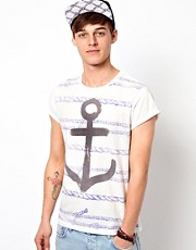 ASOS T-Shirt With All Over Rope Print