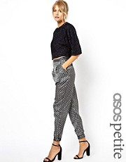 ASOS PETITE Exclusive Trousers In Hearts And Clubs Print